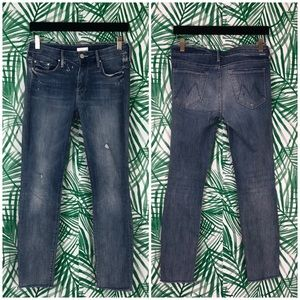 Mother Double Time Looker Ankle Fray Jeans 26